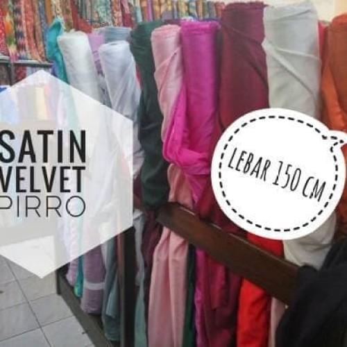 Foto Produk Terlaku Kain Satin Velvet Pirro Import Premium dari Bricqie Liu