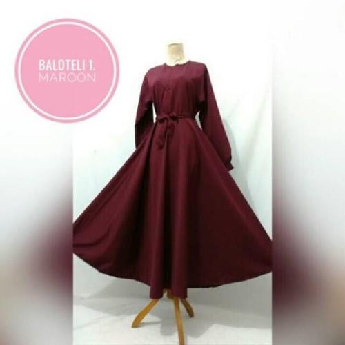 Foto Produk Terbaik Gamis Baloteli Jumbo Dress Cewek Wanita Syari Muslim Baju Long dari Bricqie Liu