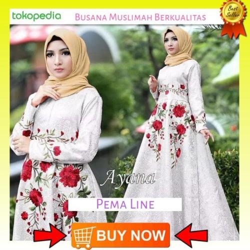 Foto Produk Paling Laku Gamis Maxi Ayana Maxi Dress Terbaru Busana Muslim Wanit dari Bricqie Liu