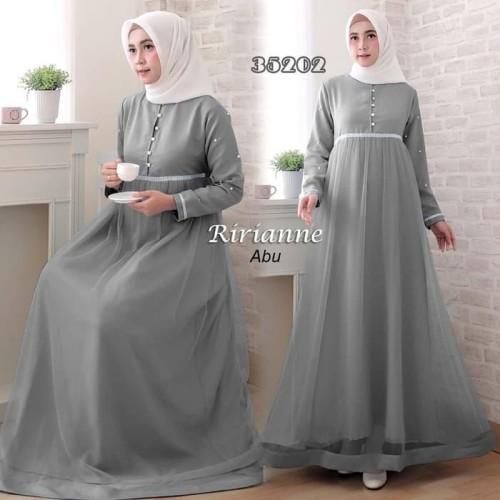 Foto Produk Paling Laku Baju Gamis Wanita Terbaru Ririanne Abu Pesta 35202 dari Bricqie Liu