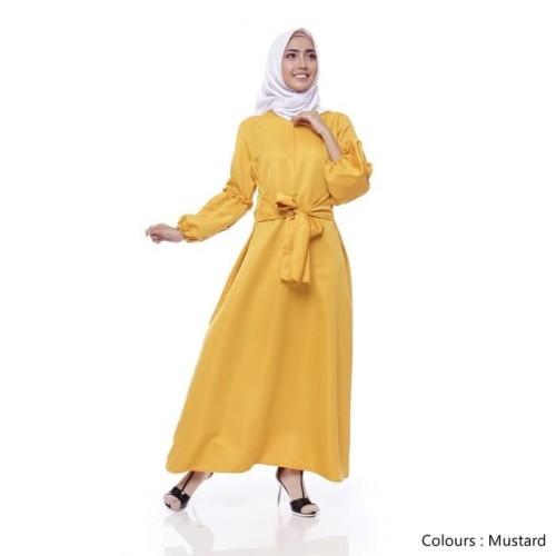 Foto Produk Terlaris Brenda Dress Mustard - Mustard dari Bricqie Liu