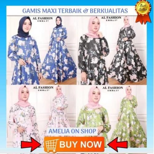 Foto Produk Terbaik Gamis Maxi Dress Emma 57 - Baju Muslim Wanita Baju Gamis Pesta dari Bricqie Liu