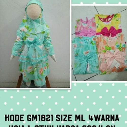 Foto Produk Terbaik Gamis Anak Perempuan Motif Kembang Tersedia 4Warna 1-2Thn dari Bricqie Liu