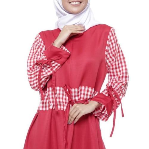 Foto Produk Terbaik Maika Dress Merah Hati - Merah dari Bricqie Liu