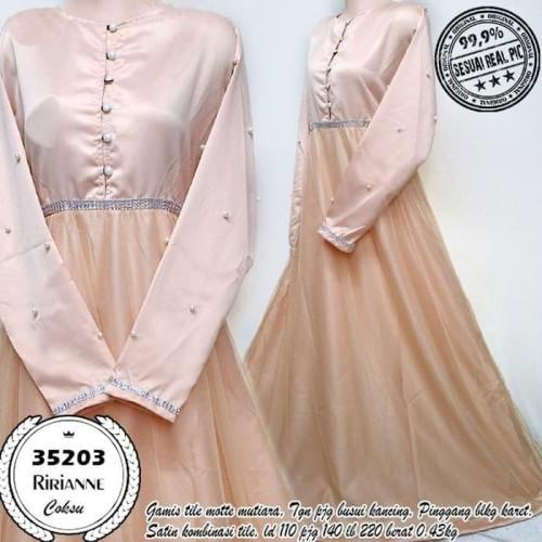 Foto Produk Paling Laris Baju Gamis Wanita Terbaru Pesta Ririanne Coksu 35203 dari Bricqie Liu