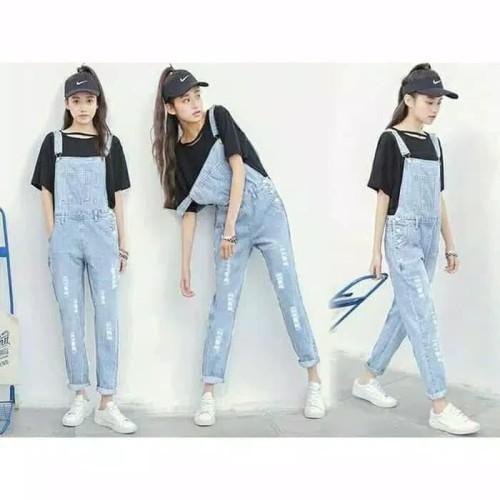 Foto Produk Paling Murah Ripped Jeans Wanita Jumpsuit Wanita Bahan Jeans Outwear dari Bricqie Liu