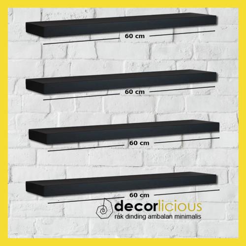 Foto Produk Rak Dinding Gantung Minimalis 4 Pcs 60 60 60 60 cm - Ambalan Dinding dari Decorlicious