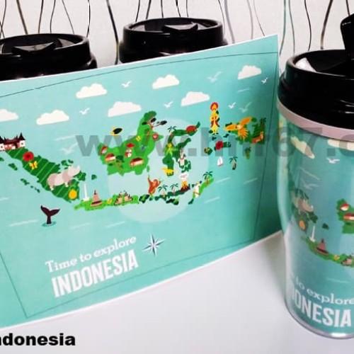 Foto Produk Souvenir Indonesia Modern Tumbler Insert Paper dari HNR67