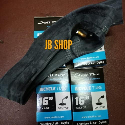 Foto Produk BAN DALAM SEPEDA LISTRIK(selis), 16X2.125 PENTIL DIN/BENGKOK,Deli tire dari JB Shop 1