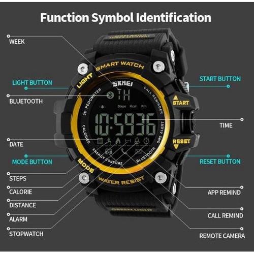 Foto Produk SKMEI Jam Tangan Olahraga Smartwatch Bluetooth - DG1227 BL dari PANTAU.ID