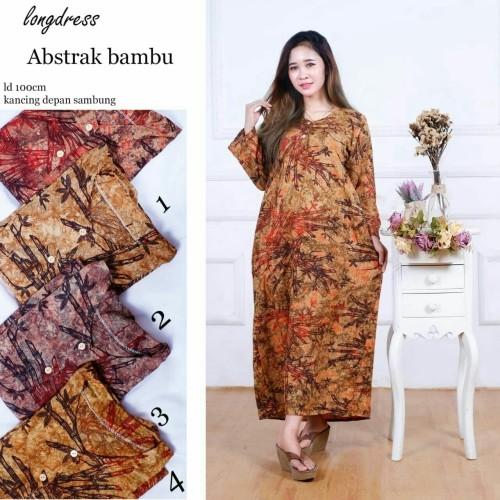 Foto Produk Longdress Batik Bambu Ecer dan Grosir dari RisqianaBatik