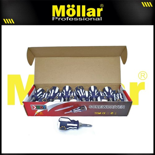 Foto Produk HDT OBENG CEBOL MINI 2 WAY BOLAK BALIK PLUS MINUS dari Mollar Official