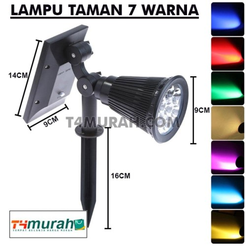 Jual Led Solar Spotlight Lampu Taman Sorot 7 Warna Lampu Led Sorot Kota Tangerang Toko Air Murah Tokopedia