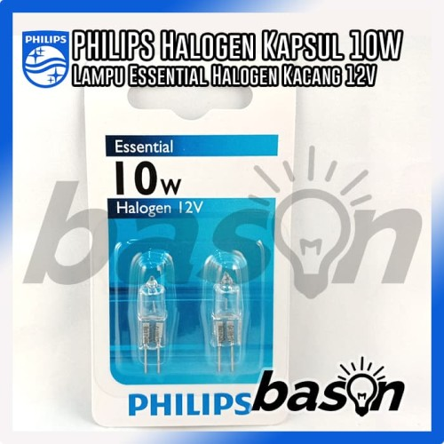 Foto Produk Philips Halogen capsule lamps Ess Capsule 10W G4 12V CL Warm white dari bason