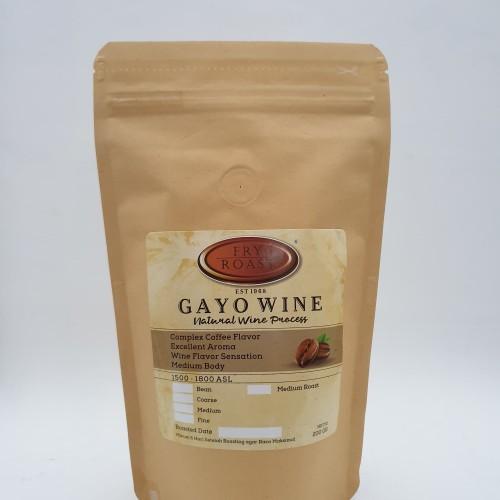 Foto Produk KOPI ARABICA GAYO NATURAL WINE PROCESS 200 GR BIJI/BUBUK - BIJI dari FRY AND ROAST