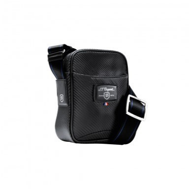 Foto Produk 171010 Small Cross Shoulder Bag - Black Carbon Leather dari St Dupont