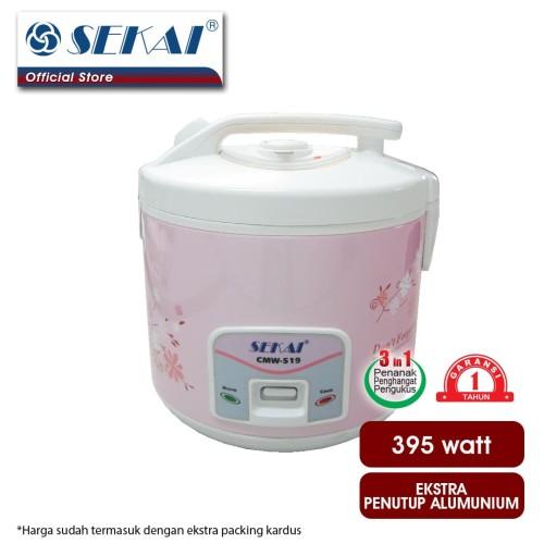 Foto Produk Sekai Rice Cooker / Penanak Nasi CMW 519 - White Flower dari SEKAI HOME ELECTRONICS