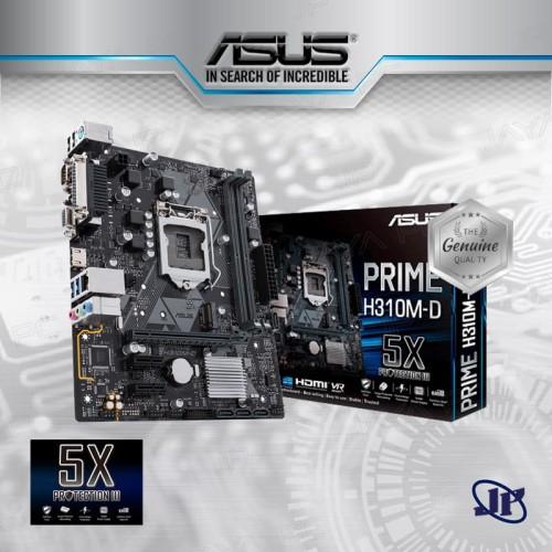 Foto Produk Motherboard Asus Prime H310M-D (LGA1151, H310, DDR4, USB3.1, SATA3) dari Jaya PC
