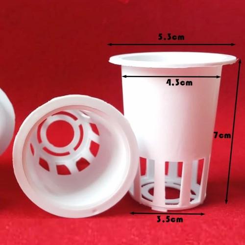 Foto Produk Netpot putih 7 cm diameter 5 cm dari Aneka Hidroponik