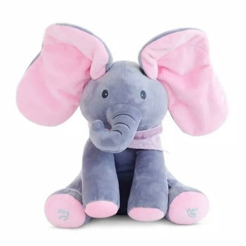 Foto Produk READY Sing & Peekaboo Elephant Doll (Boneka Gajah Cilukba & Nyanyi) - Merah Muda dari Jeloca