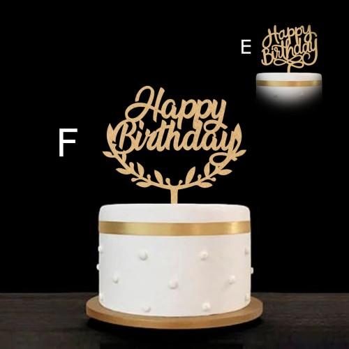 Foto Produk Cake Topper / Topper Kue - Happy Birthday - Hiasan Kue Ulang tahun dari Nail_Your_Art