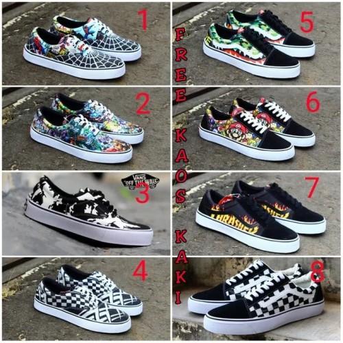 Foto Produk Sepatu Kasual Vans OS Old school Sneakers grade orie Free kaos kaki dari Asya shop Bandung