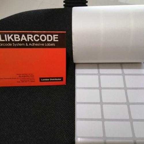 Foto Produk LABEL BARCODE 33 X 19 (3 LINE) KERTAS STICKER LABEL SEMICOATED 33x19 dari klikbarcode