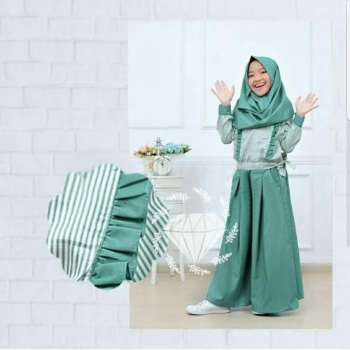 Foto Produk AGS Set Ceribelle Kids setelan pakaian muslim anak perempuan dari WHITE__SHOP