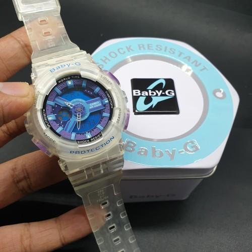 Foto Produk Jam Wanita Casio Baby G BA-110 Purple Transparant Ori Bm dari LAPAK PKL