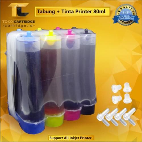 Foto Produk Tabung + Tinta Printer Universal 4 Warna 80ml, Ink Tank Set 4 Color Mu dari TokoCartridgeOnline