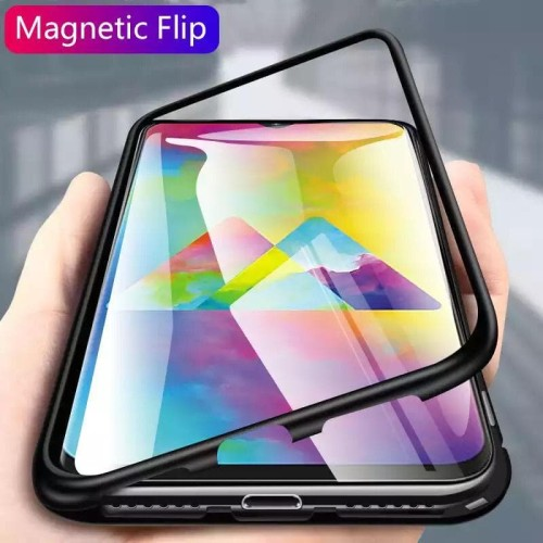 Foto Produk SAMSUNG GALAXY A20 A 20 LUXURY MAGNETIC CASE TEMPERED GLASS BACK COVER dari MrThebest