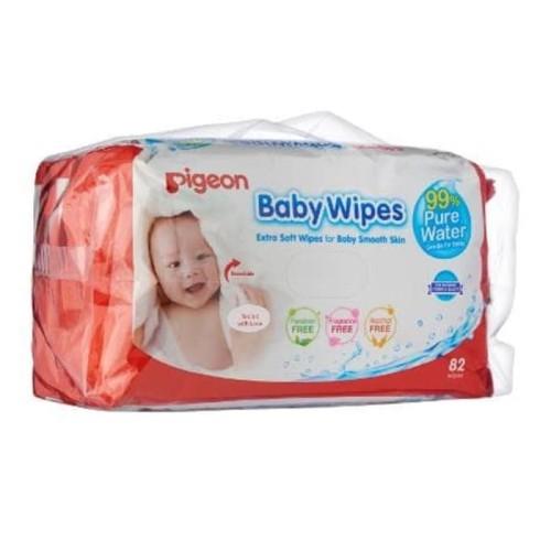 Foto Produk Isi 2 bundling Pigeon tissue Baby Wipes Pure Water 82s tisu bayi 82 dari JMT-Shop
