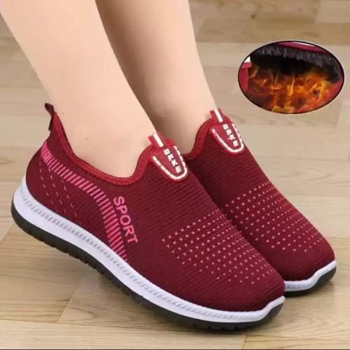 Foto Produk HARGA PROMO!! sepatu kwi Sport Wanita sepatu jalan santai wanita - Maroon, 37 dari Grosir amanah shop