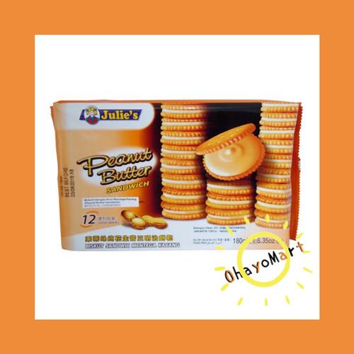 Foto Produk Biskuit Julies rasa kacang / Julie's peanut butter/ Biscuit 180g dari OhayoMart