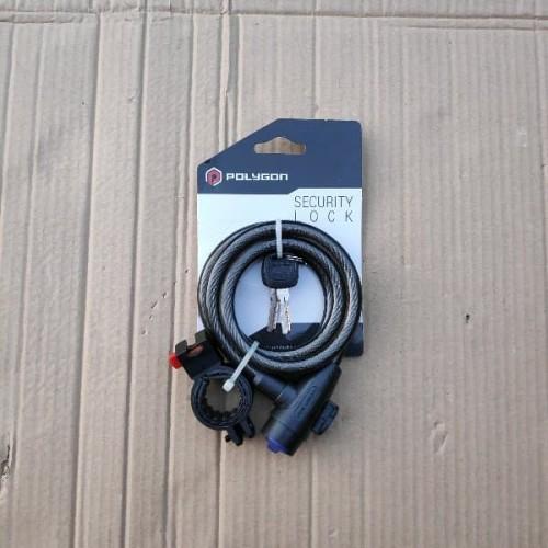 Foto Produk Harga Promo Lock Spiral Power Polygon. Kunci Gembok Sepeda dari indahcolection89