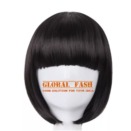Foto Produk Wig bob hitam/ Wig pendek lurus / Wig Cosplay/ Rambut Palsu full dari Global Fash
