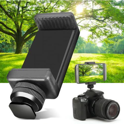 Foto Produk Flash Hot Shoe Screw Adapter Tripod Mount Phone Clip Holder For DSLR - MEDIUM dari Anita Cellular