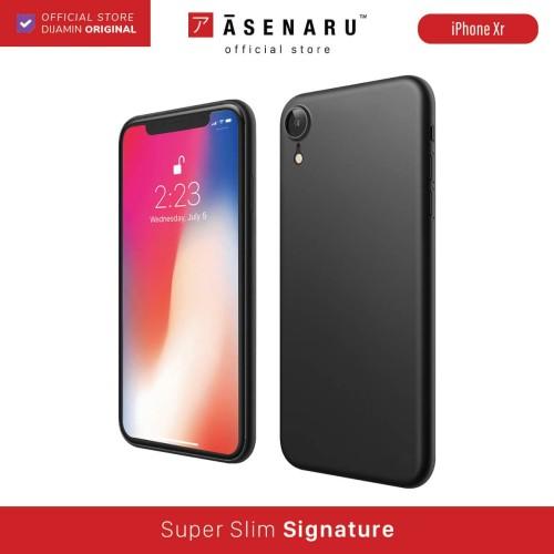 Foto Produk ASENARU iPhone XR Case - Super Slim Signature - Pitch Black dari Asenaru Official Store