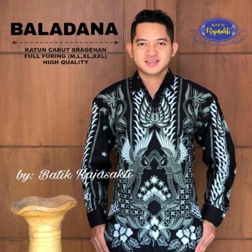 Foto Produk Batik Solo Kemeja Batik Panjang Baladana Colet Rajasakti Batiksolo - M dari Batik Solo Amanah