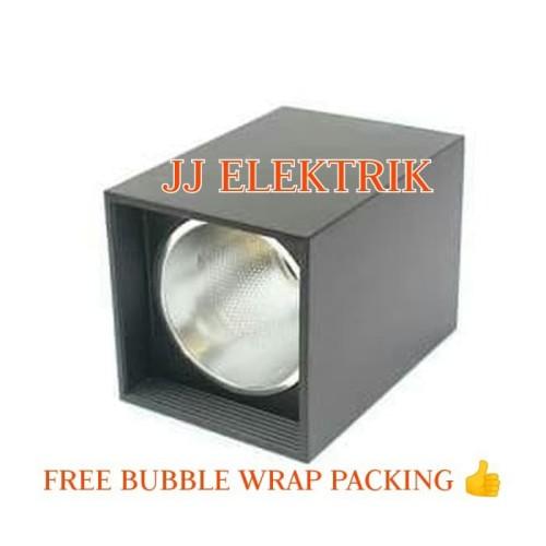 Foto Produk Rumah Lampu Downlight Outbow KOTAK Tempel Plafon Fitting E27 3 Inch - Hitam dari JJELEKTRIK