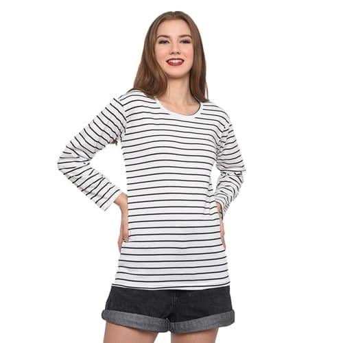 Foto Produk MOSIRU Kaos Wanita Baju Oblong Termurah Tumblr Tee Salur 10100018 dari Mosiru Official Store