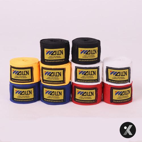 Foto Produk Wolon Handwrap Hand Wrap Ukuran 3M Boxing Muay Thai Kickboxing - Putih dari KRB Pro