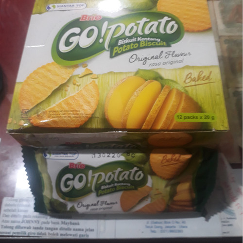 Foto Produk Brio Go!Potato 12pc x 20g dari Bintang Terang Snack