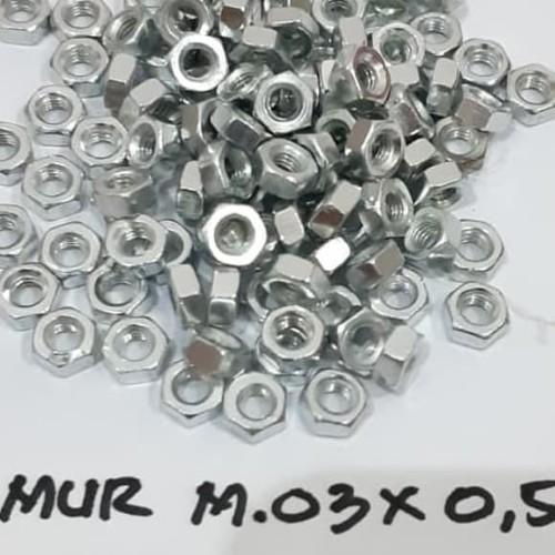 Foto Produk Mur M3 Mur Baut JP 3mm dari toko Bangunan Makmur