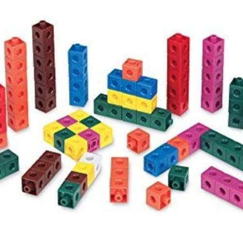 Foto Produk hand2mind Linking Snap Cubes, Math Manipulative (Set of 100) dari Bambini Corner