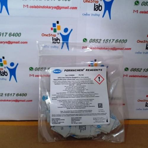 Foto Produk HACH 2105569 DPD Free Chlorine Reagent Powder Pillows, 10 mL, pk/100 dari OneStop Laboratory