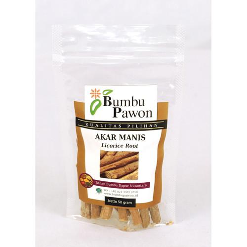 Foto Produk BP003A Akar Manis, Licorice Root 50 gr dari Bumbu Pawon.Id