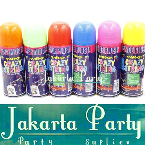 Foto Produk Crazy String(Semprotan Pesta) / Party String / Semprotan Jaring dari Jakarta Party
