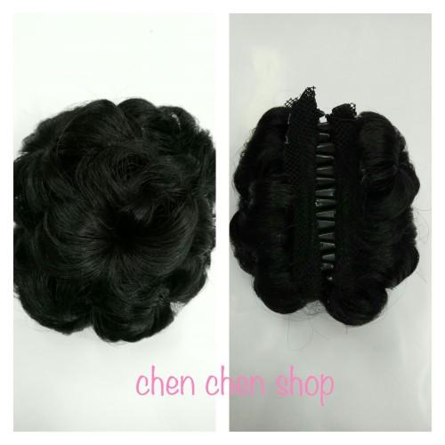 Foto Produk jepit jamur/sanggul jepit/cepolan utk hijab/jepit rambut - Hitam dari chen wig online shop