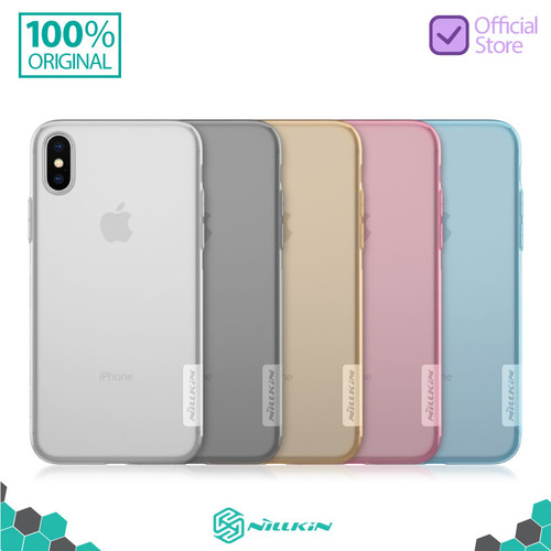 Foto Produk Nillkin Nature TPU Soft Case iPhone X / XS - Abu-abu dari Nillkin Official